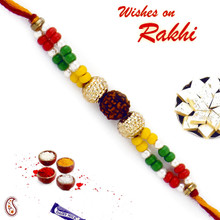 Colorful Beads Rudraksh Rakhi - RD17415