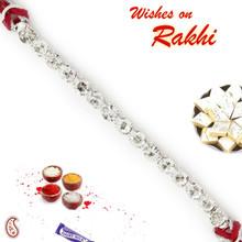 CZ studded Bracelet Style Thread Rakhi - BR17579