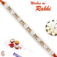 Chain Style AD Studded Bracelet Rakhi - BR17580