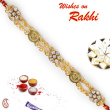 Beautiful Jewelled Bracelet Rakhi with American Diamond - BR17582