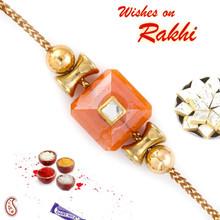 Round & Damroo Style Beads Rakhi - RB17603