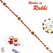 Elegant Sandalwood Beads Rakhi - SW17655