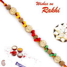 Multicolor Beads Sandalwood Rakhi - SW17665
