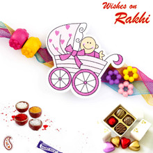 Sweet Toddler Multicolor Beads Kids Rakhi - RK17701