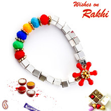 Soft and colourful Rakhi for the new born - RK17702