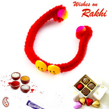 Beautiful Twin Smiley New Born Baby Rakhi - RK17703