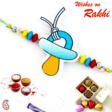Wonderful Blue & Yellow Stylish Kids Rakhi - RK17705
