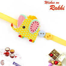 Sweet Little Elephant Motif Kids Rakhi - RK17710