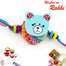 Funny & Cute Blue Teddy Style Kids Rakhi - RK17711