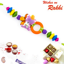 Multicolor Kitty Sweet Kids Rakhi - RK17712