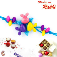 Wonderful Multicolor Blue Band Kids Rakhi - RK17713