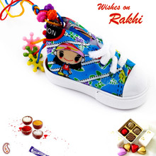 Colourful Lumba Rakhi for Girl Child - RK17715