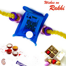 Blue Playing Card Pack Kids Rakhi - RK17719