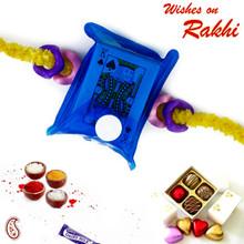 Blue Playing Card Pack Kids Rakhi - RK17719