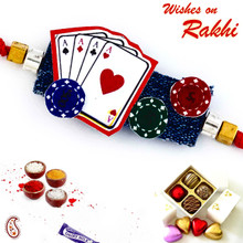 Amazing Playing Cards Motif Kids Rakhi - RK17721