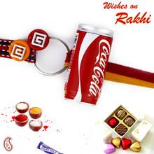 Coca-Cola Can Kids Rakhi with Colorful Wrist band - RK17722