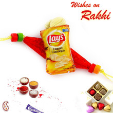Classic Lays miniature motif Rakhi for Kids - RK17735
