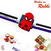 Pleasant Spiderman Motif Kids Rakhi - RK17763