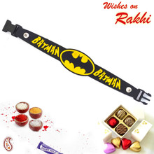 Batman Logo & Name Kids Rakhi - RK17767