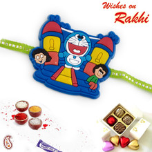 Multicolor Doremon & Friends Kids Rakhi - RK17796