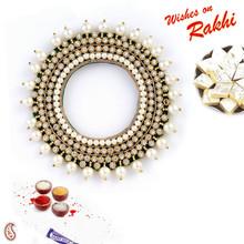 Bangle Style Pearl Beads Lumba Rakhi - LM171101