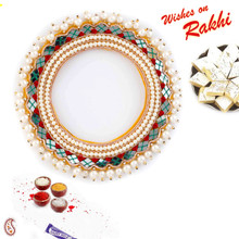 Beautifully Mirror Designed Lumba Rakhi - LM171102