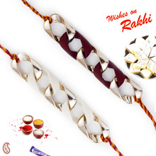 Set of 2 Twisted Chain Style Rakhi - PST17203