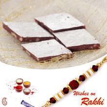 Kaju Chocolate barfi with FREE 1 Bhaiya Rakhi - RM1706