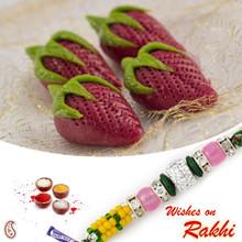 Kaju Strawberry Sweet with FREE 1 Bhaiya Rakhi - RM1717