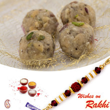 Dryfruit Laddu Sweet with FREE 1 Bhaiya Rakhi - RM1728