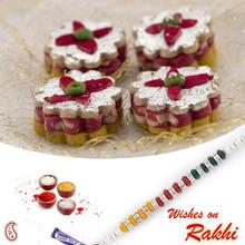 kaju Chandramukhi Sweet with FREE 1 Bhaiya Rakhi - RM1746