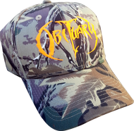"""Hunting Camo"" Hat Orange Logo"