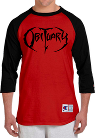 """Black & Red Baseball Shirt, 3/4 Sleeve"" T-Shirt"