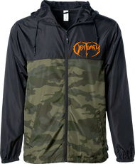 """Black & Camo with Orange Logo"" Windbreaker"