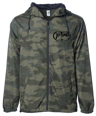 """Full Camo with Black Logo"" Windbreaker"