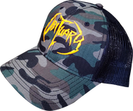 """Army Camo"" Hat Orange Logo"
