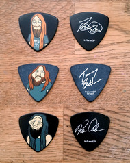 """Trevor, Kenny & Terry - Cartoon"" Signature Guitar Picks"