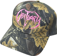 """Hunting Camo"" Hat with Pink Logo"