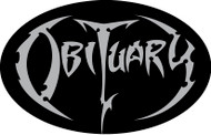 Obituary Metallic Silver Logo - Vinyl Oval Sticker