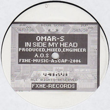 """Omar S - In Side My Head - 12"""" Vinyl"""