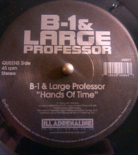 "B-1 & Large Professor / O.C. - Hands Of Time/ Spitgame - 7"" Vinyl"