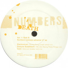 "Numbers - Death Remixes Vol. 1 - 12"" Vinyl"