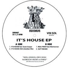 """Vin Sol & Tyree Cooper - It's House - 12"""" Vinyl"""