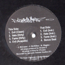 "Elevated Mindz - Evil / Hate / Fame - 12"" Vinyl"
