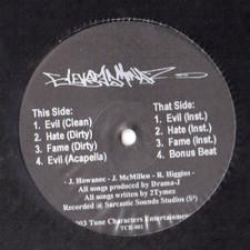 """Elevated Mindz - Evil / Hate / Fame - 12"""" Vinyl"""