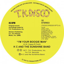 "KC & The Sunshine Band - I'm Your Boogie Man (Todd Terje Remix) RSD - 10"" Vinyl"