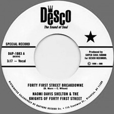 """Naomi Davis Shelton & The Knights Of Forty First Street - Forty First Street Breakdowne - 7"""" Vinyl"""