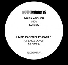 "Dj Nex - Unreleased Files Pt. 1 - 12"" Vinyl"