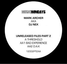 "Dj Nex - Unreleased Files Pt. 2 - 12"" Vinyl"