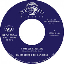 "Sharon Jones & The Dap-Kings - 8 Days (Of Hanukkah) - 7"" Vinyl"